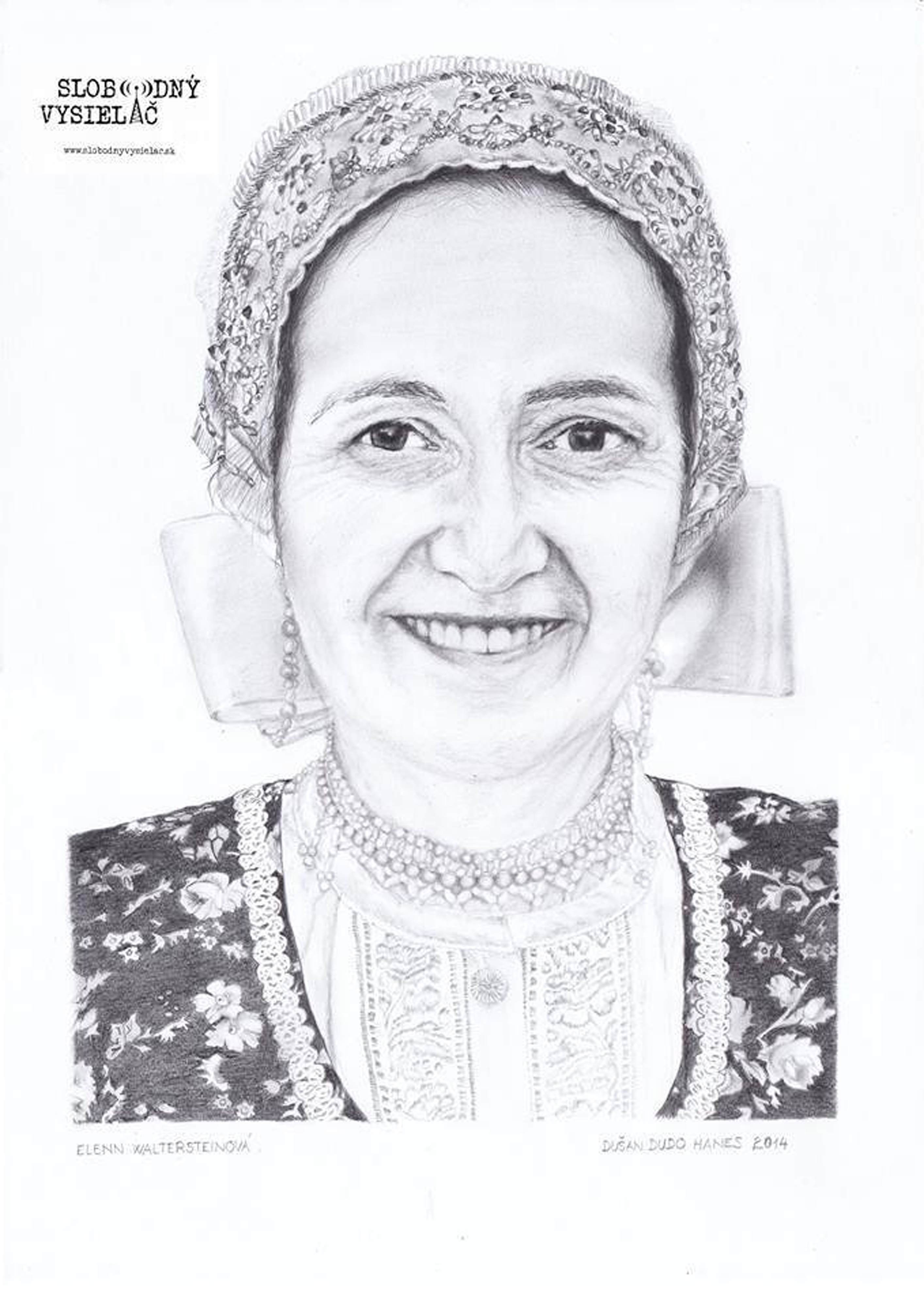 Elenn Waltersteinová, portrét s logom SV