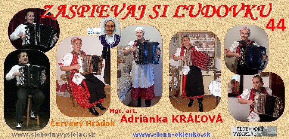 Zaspievaj si ludovku c.44_Mgr. art. Adrianka Kralova_Cerveny Hradok_EW